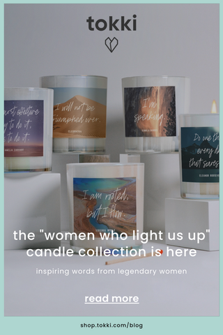 women who light us up candle collection pin