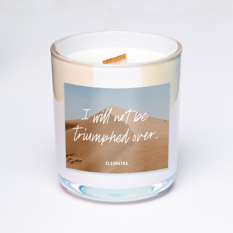 cleopatra quote candle