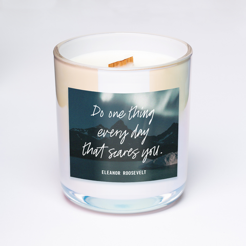 Eleanor roosevelt quote candle