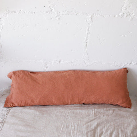 linen body pillow