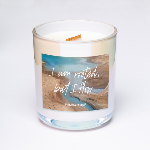virginia woolf quote candle