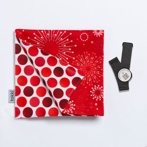 Holiday Sparkles in Red | Reusable Gift Wrap