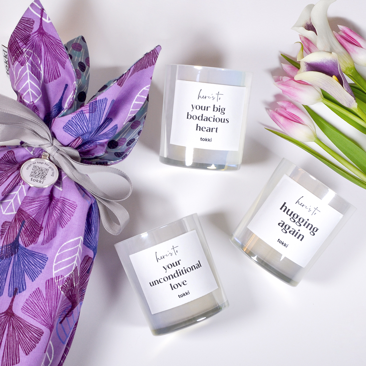 mother's day candle gift set trio
