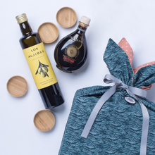 "Load image into Gallery viewer, ""best olive oil in the world"" + aged balsamic vinegar gift set 