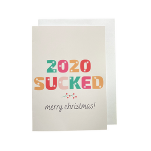 Holiday Card - 2020 Sucked Merry Christmas