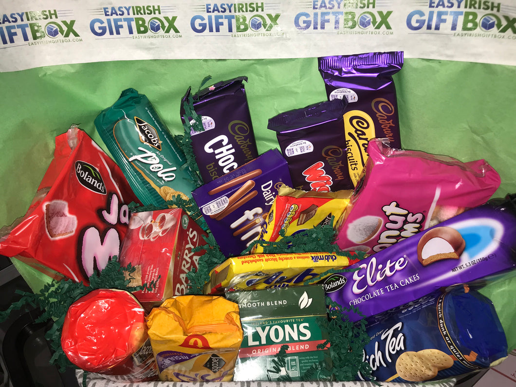Easy Irish Large Premier Gift Box of Biscuits and Tea!
