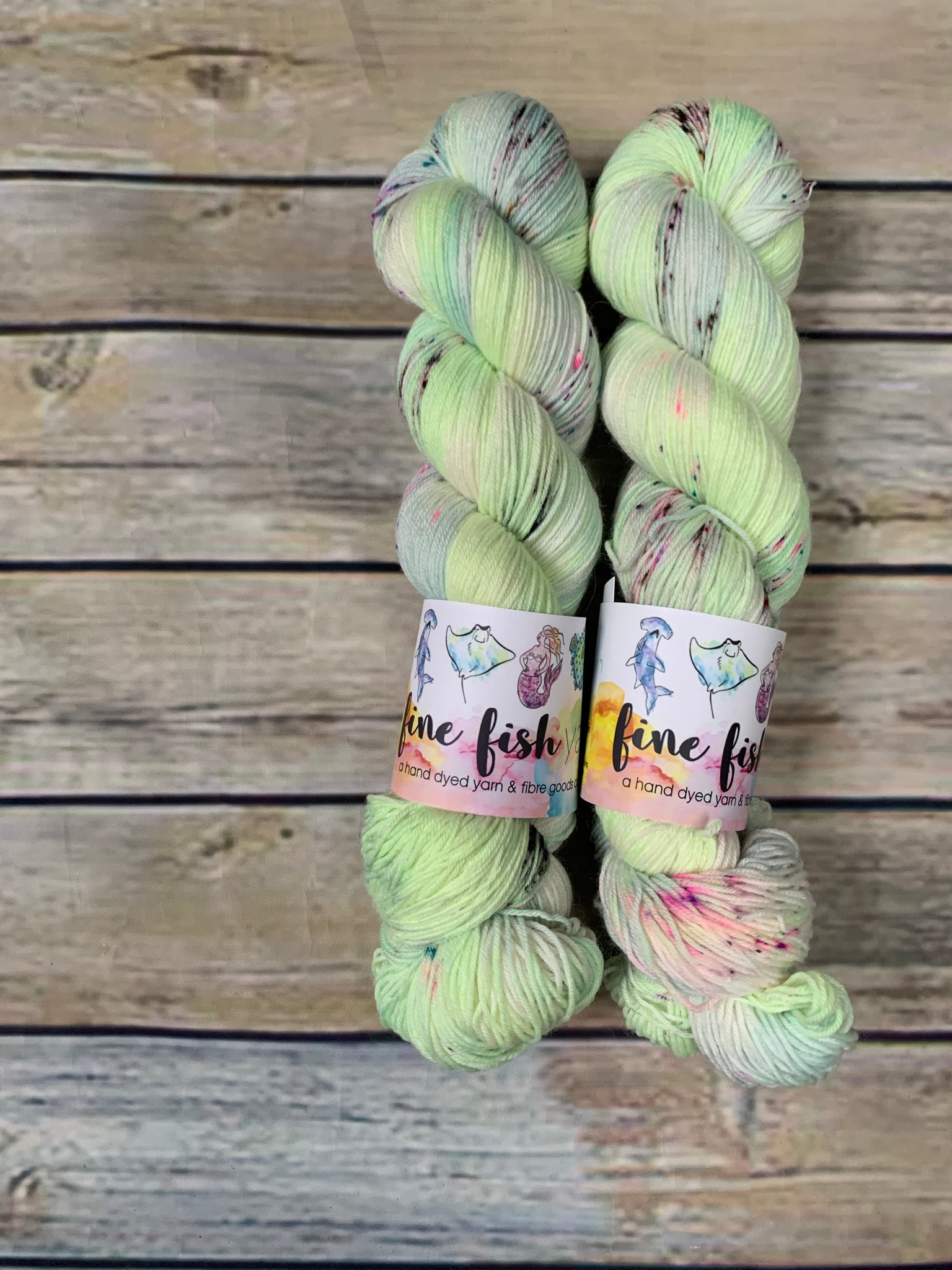 OOAK Lime - Merino Nylon Sock Platinum Base