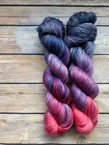 Twilight Flamingo - Merino Silk Lace