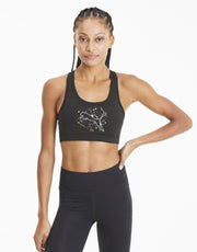 4 Keeps Puma Bra Black Metal Splash