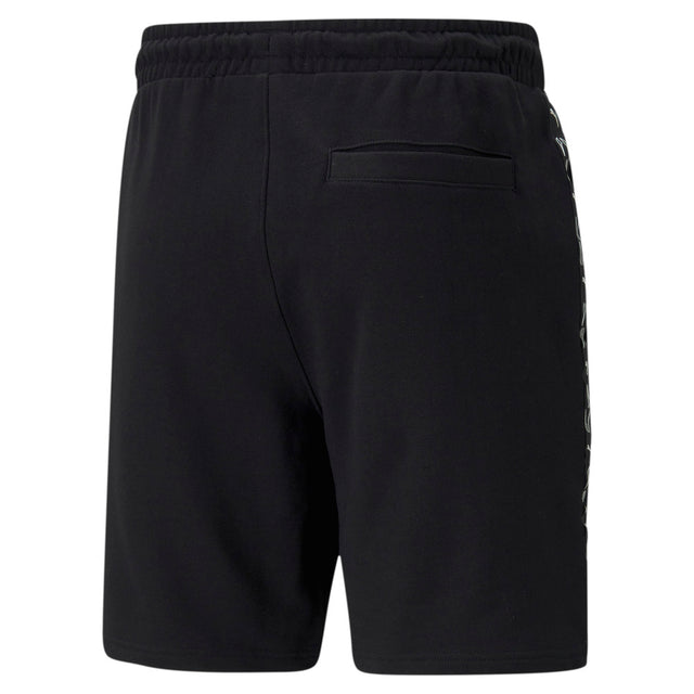 "Elevate 8"" Short Cotton Black Unisex"