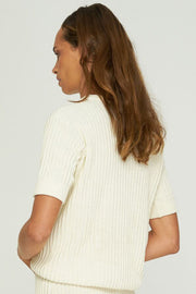 Pamela Knit Tee White
