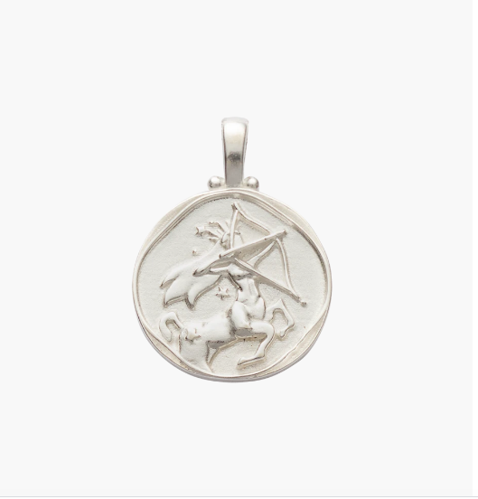 Sagittarius Zodiac Necklace Sterling Silver