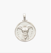 Capricorn Zodiac Necklace Silver
