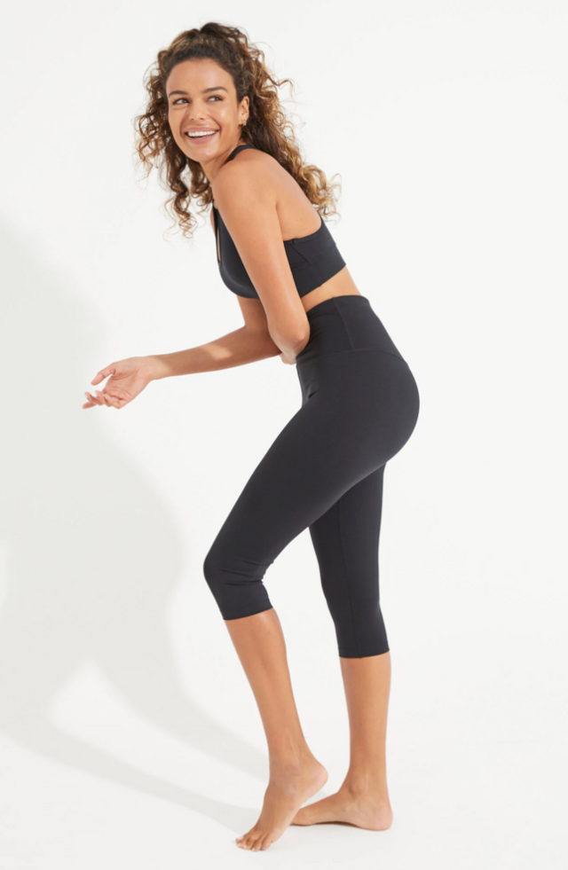 Luxe 3/4 Byron Pocket Legging Black