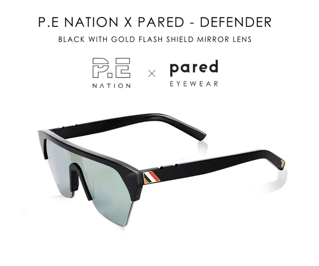 PE NATION x Pared Defender Black/Gold Mirror