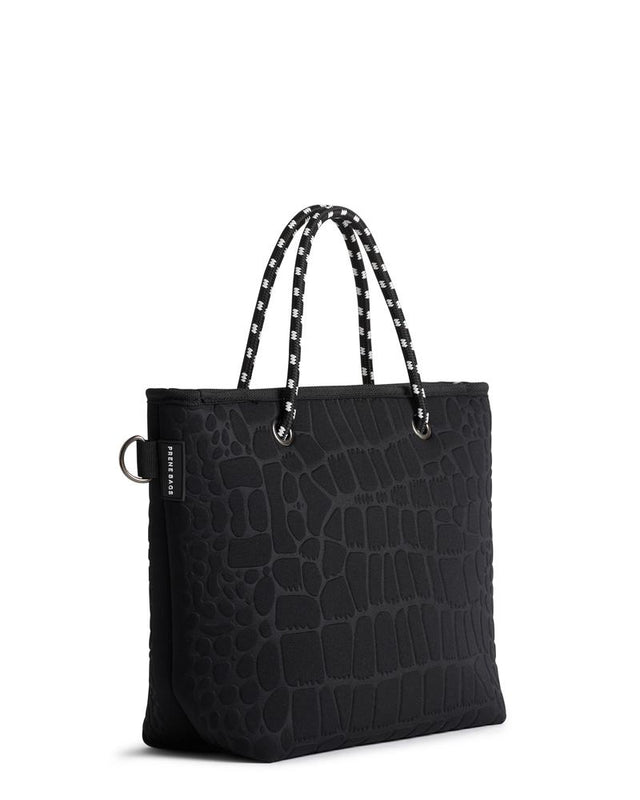 The Pebbles Bag Black Croc