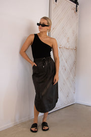 Willow Faux Leather Skirt