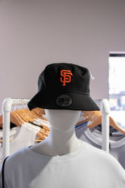 San Fran Bucket Hat Black with Orange