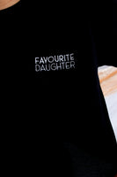 Favourite Daughter Crop Tee Black EM