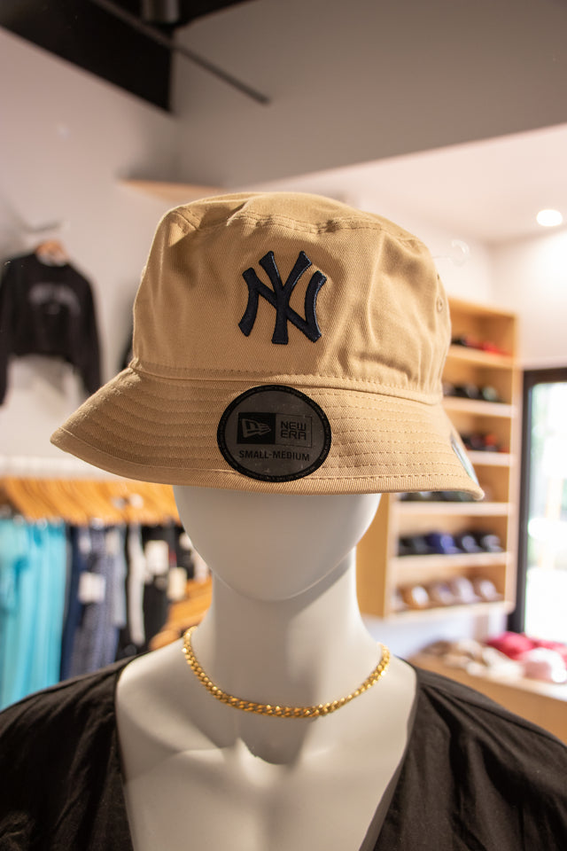 NY Bucket Hat Navy on Tan