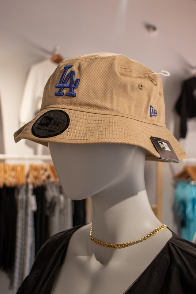 LA Bucket Hat Royal Blue on Tan