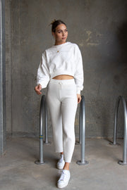 Caroline Crop Sweater White