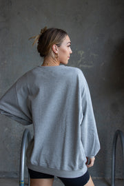 Lulu Longline Sweater Grey Marle