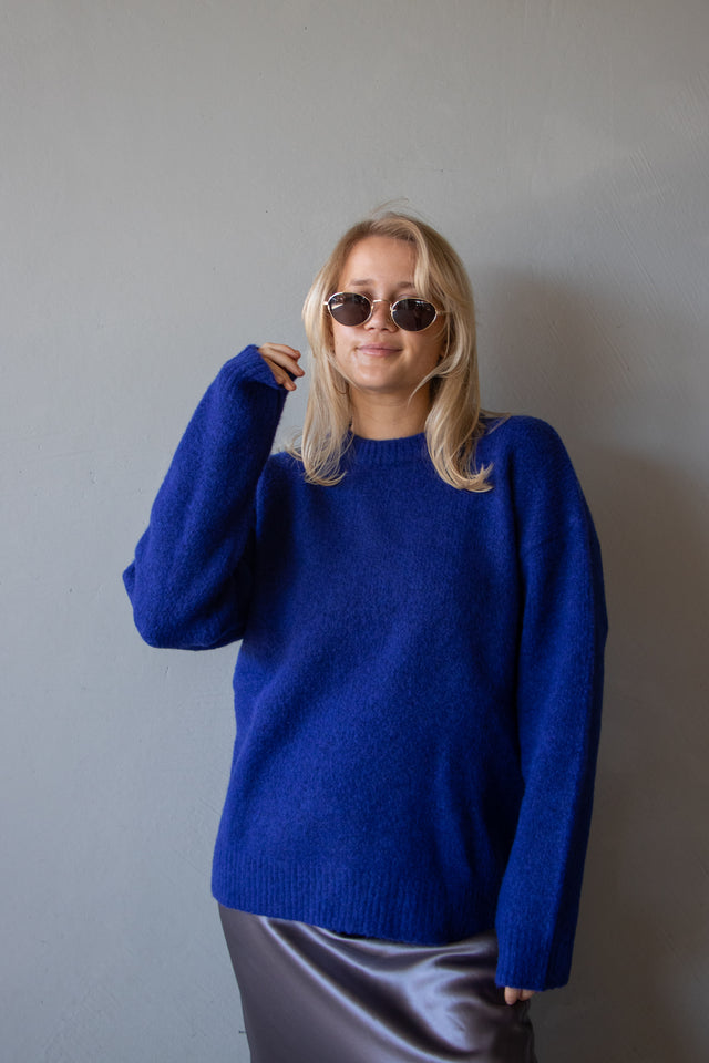 Mohair Blend Knit - Royal Blue