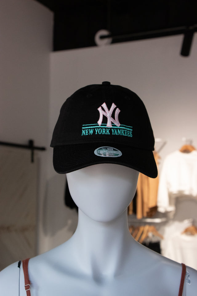 New Era NYC Black Pink and Aqua Cap