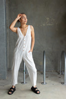Hammond Jumpsuit White