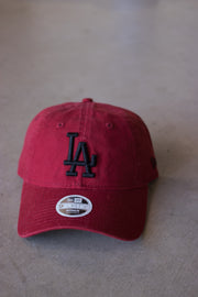 New Era LA Retro Black on Red 940