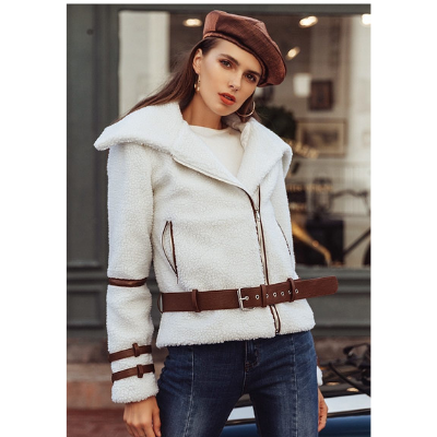 Robyn Faux Lamb Fur Jacket, White