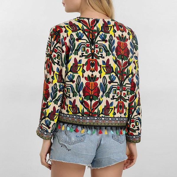 Andrew, Curva Embroidery Colourful Jacket, Floral Print