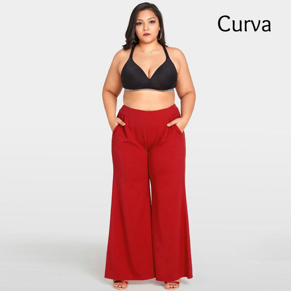 Williams Curva, Wide Leg Trouser, Red