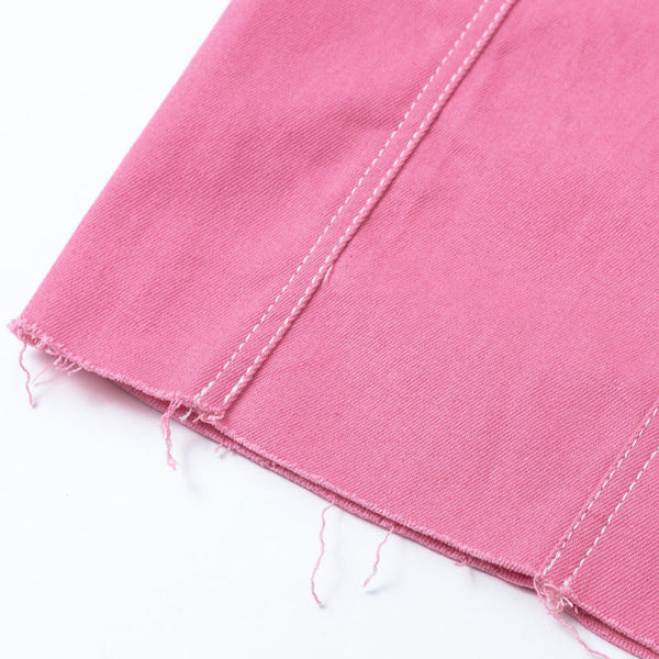 Claudie Jean Cropped Jackets, Denim Pink