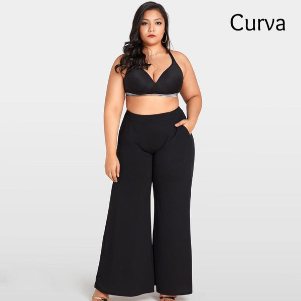 Williams Curva, Wide Leg Basic Trouser, Black