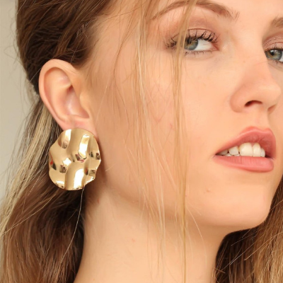 Geoffry Gold Coated Metal Earrings