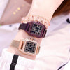 Women Starry Sky Waterproof Square Watch