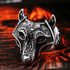 Viking Wolf Stainless Steel Rings
