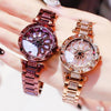 Women Waterproof Flower Quartz Watch