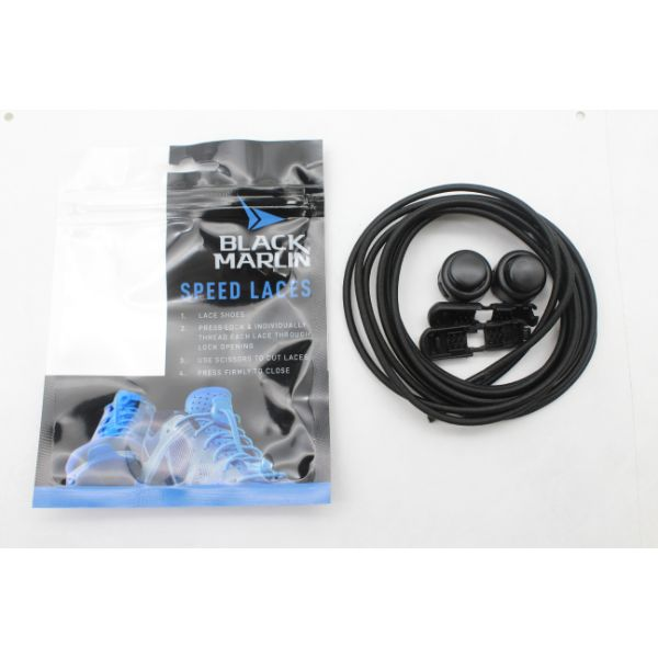 Black Marlin Elastic Laces