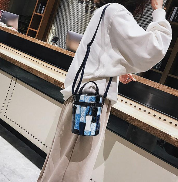 Fashion Rivet Cross - Pail Individual Color Shoulder Bag