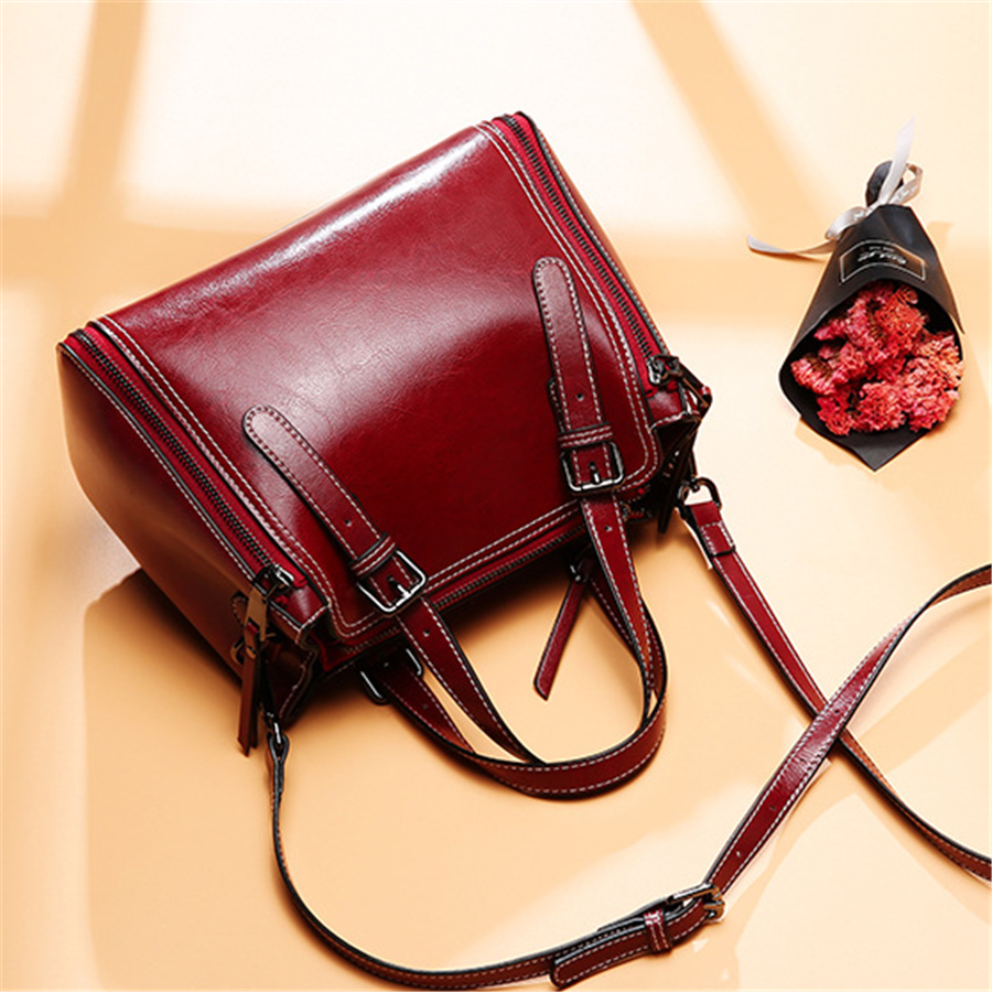 Fashion vintage leather shoulder bag