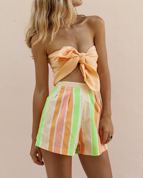 Bow Wraps & Shorts Set