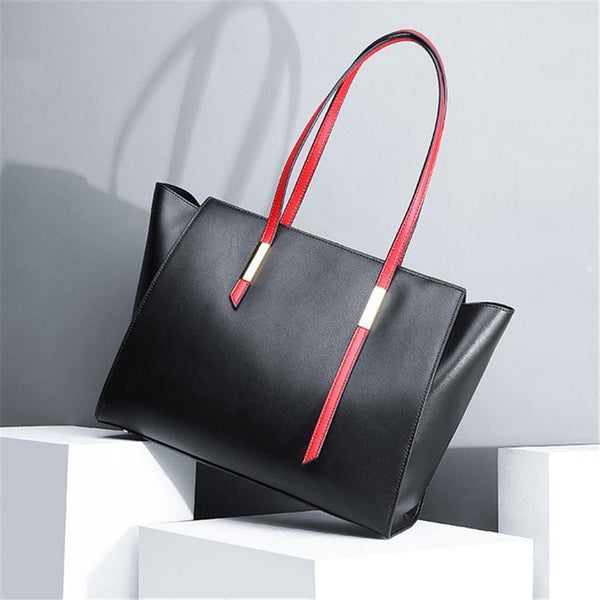 Large-Capacity Leather Tote Bag