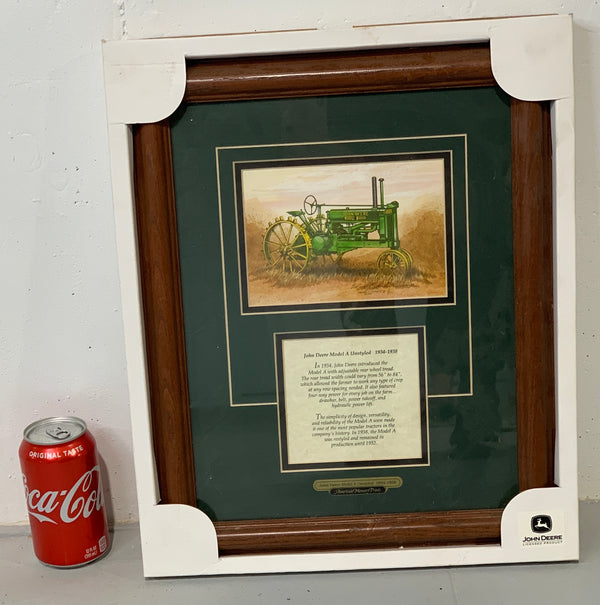 Framed John Deere Model A Picture