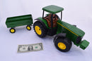 John Deere 8520 Vintage Tractor Toy with Cart