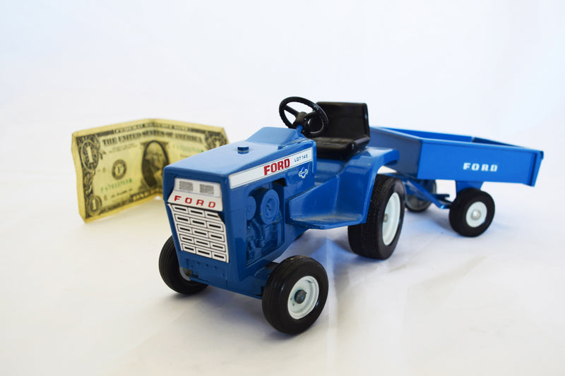 Vintage Ford Toy Tractor with Cart