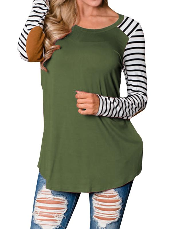Chloebuys Round Neck Stripe Sweater