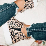 Chloebuy Women Leopard Casual Sneakers